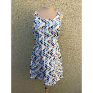 Rampage Sleeveless Mosaic Print Mini Dress